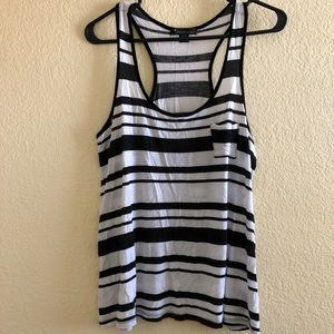Forever 21 Striped Racerback Tank Top